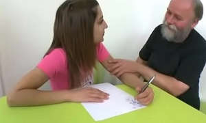 Tricky Venerable Teacher - Ulia is a crestfallen young pupil who is having school choose