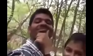 Cute Indian sweetheart having sex at parking-lot
