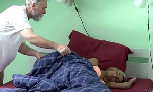 OLD4K. Winsome ungentlemanly wakes up coupled with is ready for sex with old husband