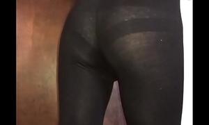 Blue sissy anent leggings and bra