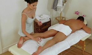 Real japanese masseuse pampering strapon