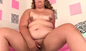 Chubby girl uses sex toys