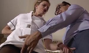 Slut sucks seniors cock