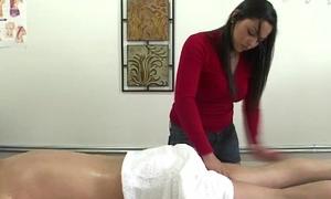 Pure asian masseuse jerks purchaser
