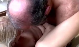 Pretty good newborn slurps and bangs old guy small rod